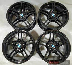 Bmw 18 Oem Staggered Set Of Gloss Black Wheels 36116791999 Style 313 71458