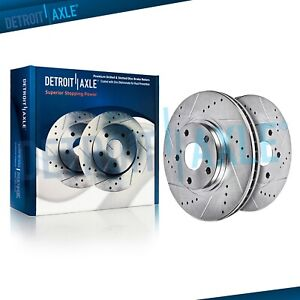 Front Drilled Rotors For Lexus Gs300 Gs400 Gs430 Is300 Sc300 Sc400 Sc430 Ls400
