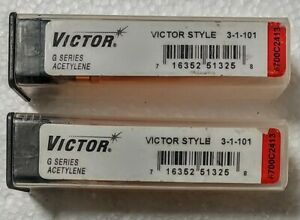 Pack Of 2 Victor 3 1 101 G Series Cutting Torch Tips For Oxyacetylene Torch