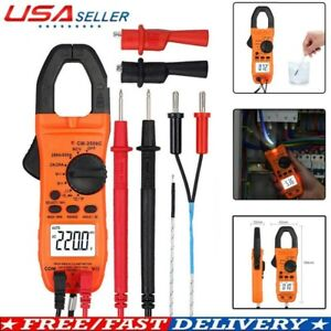 Digital Clamp Meter Multimeter Ac Current Dc Voltage Resistance Tester Usa