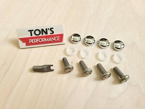 Chrome Toyota Security Anti Theft License Plate Screws Stainless Bolts Snake Pin