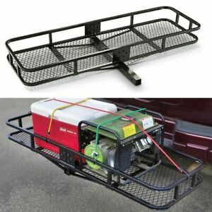 Truck Hitch Cargo Carrier Mount Rack 500 Lb Capacity Rear Luggage Basket Trailer