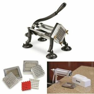 French Fry Cutter Potato Slicer Meat Tenderizer Cuber 2 Blade 3 8 1 2 Commercial