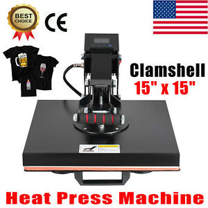 Clamshell Heat Press Machine 15 X 15 Diy T shirt Sublimation Digital Transfer