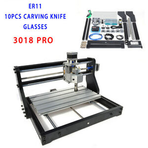 Cnc 3018 Pro Machine Router 3 Axis Engraving Pcb Wood Diy Mill 2500mw Laser Head