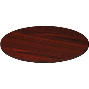 Lorell Chateau Conference Table Top 48 Reeded Edge Finish Mahogany