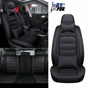 Luxury Pu Leather Car Seat Covers All Weather Universal 5 sit Interior Full Set