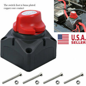 Car Suv Rv Marine Boat 12v Battery Isolator Disconnect Rotary Switch Cut On Off