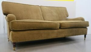 Georgeous Signature George Smith Three Seater Sofa On English Roll Arms Castor
