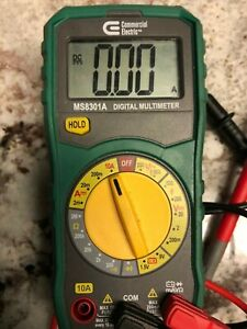 Commercial Electric Manual Ranging Digital Multi meter Ms8301a Tester