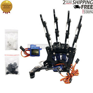 Mechanical Claw Clamper Gripper Arm With Servos For Robot Diy Assembled