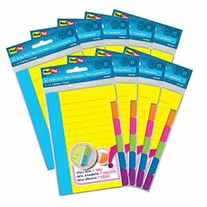Redi tag Divider Sticky Notes Tabbed Self stick Lined Note Pad 60 Ruled Notes