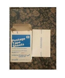 Pitney Bowes Postage Tape Sheets 150 Double Sheets For B700 fast Free Shipping