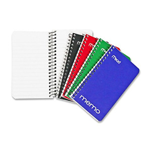 Mead Small Spiral Notebooks Lined College Ruled Paper Pocket Notebook Memo 60