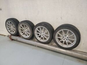 Tesla Model 3 18 Snow Tires With Sport Rims And Tpms Censor