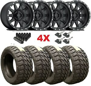 17 Black Wheels Rims Tires 33 12 50 33x12 50r17 Mud Mt Method Fuel Mr301