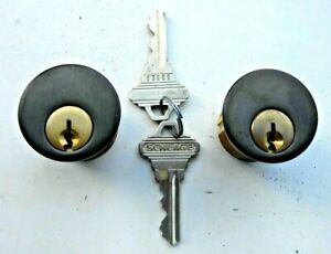 2 Schlage Original Mortise Cylinders With 2 Same Keys Made In Usa