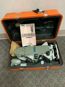 Nikon Top Gun Dtm a20 Lg Total Station Surveying Equipment W Case Manual Cable