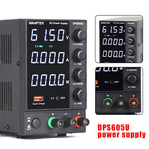 1pcs New Dps605u 0 60v 5a Adjustable Switch Dc Power Supply 4 Digits 110v