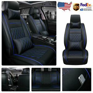 For Honda Civic Breathable Leather Car Seat Cover Universal Front Rear Full Set