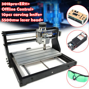 Cnc 3018 Pro Router Engraving Pcb Wood Diy Milling 3 Axis 5500mw Laser offline