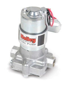 Holley 12 815 1 Universal Black Electric Fuel Pump Aluminum External Alcohol Gas