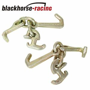 2 Grade 70 Rtj Cluster Hooks Wrecker Tow Truck Chain Car Hauler Trailer Towing
