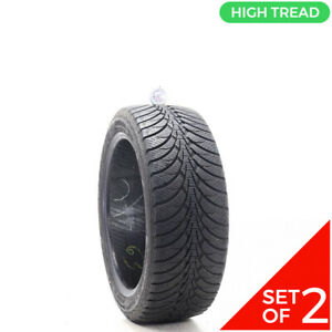 Set Of 2 Used 225 45r17 Goodyear Ultra Grip Ice Wrt 94t 9 5 10 32