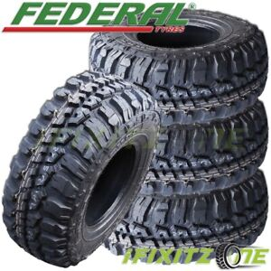 4 Federal Couragia M T 35x12 50r20lt 121q E 10 Mud Terrain M T Tires
