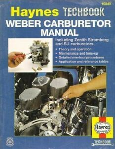 Weber Zenith Stromberg Su Carburetor Rebuild Manual New