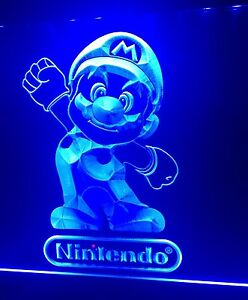 New Nintendo Led Sign For Game Room office bar Mario Bros Us Seller