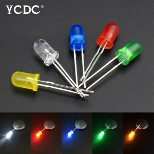 5mm Round Head 5 Colors Led Light Emitting Diode Lamps Dc1 8 3 2v Kit 100pcs 45