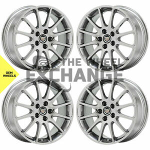 18 Cadillac Dts Sts Pvd Chrome Wheels Rims Factory Oem Gm 2005 2012 Set 4 4597
