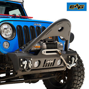 Eag Front Bumper Stinger With D Rings Fit 07 18 Jeep Wrangler Jk Offroad
