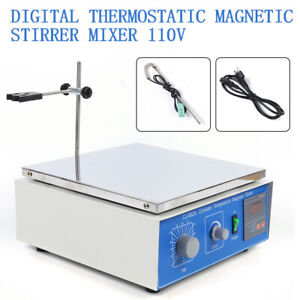 10l Magnetic Stirrer Digital Display Constant Temperature Lab Mixer W Hot Plate