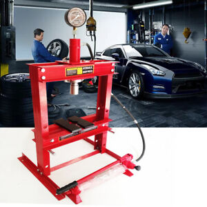 Benchtop 10 Ton Hydraulic Shop Press With Plates H Frame Jack Stand Gauge Top
