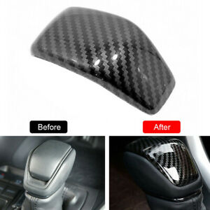 1pcs Carbon Car Parts Gear Shift Knob Cover Trim For Toyota Rav4 2019 2020