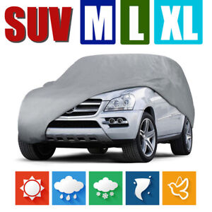 Waterproof Full Car Cover For Suv Truck Outdoor Rain Uv Resistant Snow Protector