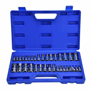34pcs set Chrome vanadium Steel Allen Wrench Hex Key Bit Socket Kit Repair Tool