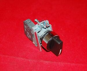 22mm Metal Momentary Selector Switch 2 Position Fits Xb4bd41 Select Switch 1no