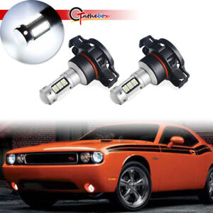 For 2010 14 Dodge Challenger White Led 5202 H16 Bulbs Fog Driving Lights Replace