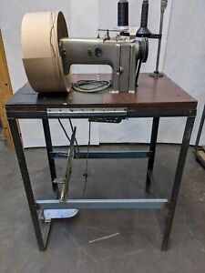 Consew 321 Single Needle Industrial Chain Stitch Sewing Machine W table Motor