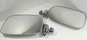 1966 1974 Vw Ghia Chrome Side View Mirror Set Left Right Pair