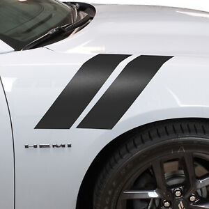 4 Front Fender Hash Marks Stripes Vinyl Decal Fits Dodge Charger And Challenger
