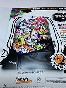 Sharpie Marker Pullstring Backpack Set