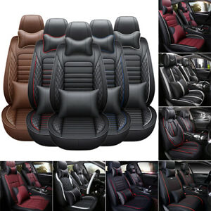 Otoez Universal Car Seat Cover Full Set Waterproof Leather Front Rear 5 Seats