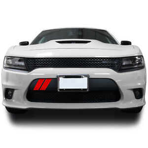 Front Bumper Hash Marks Stripes Vinyl Decal Fits Dodge Charger 2015 2021 Matte