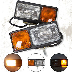 Universal Truck Snow Plow Light Headlight Lamp Turn Signal Snowplow Replacement