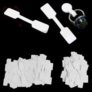 50 100pcs Blank Price Tags Necklace Ring Jewelry Labels Paper Sticker W1