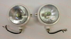 310066f Set Of 2 12v Head Lamp Lights For Ford Tractor 2n 8n 9n 600 800 Naa